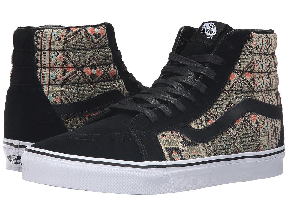 Vans - SK8-Hi Reissue ((Moroccan Geo) Black/Ivy Green) Skate Shoes