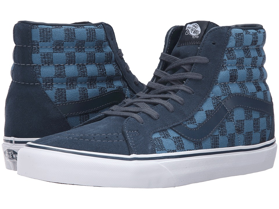 Vans - SK8-Hi Reissue ((Stitch Checkers) Blue Mirage/Midnight) Skate Shoes