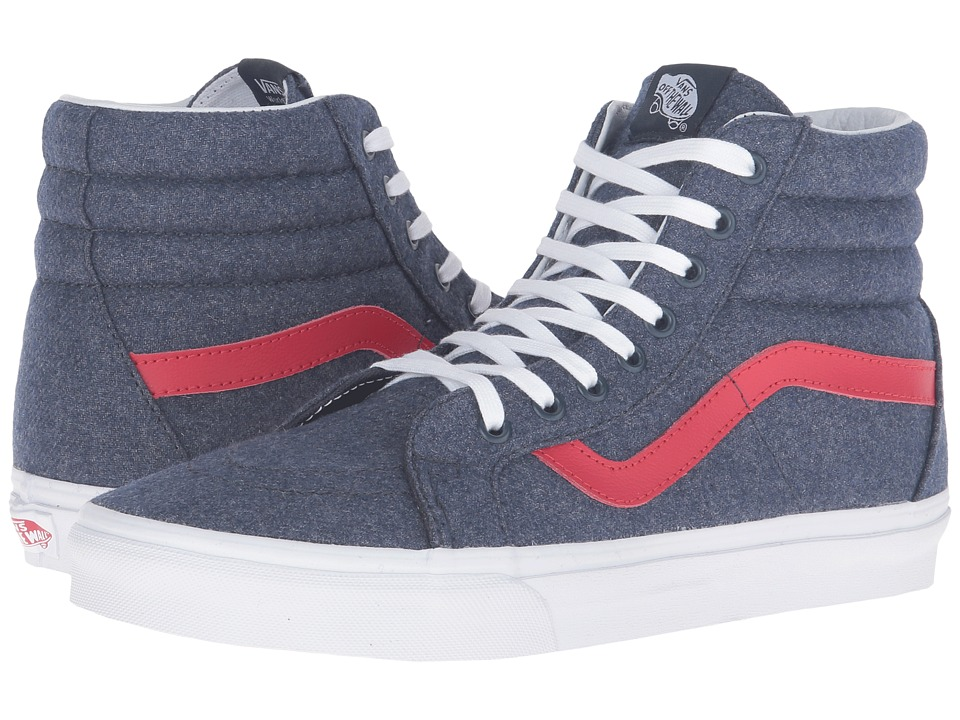 Vans - SK8-Hi Reissue ((Varsity) Navy/True White) Skate Shoes