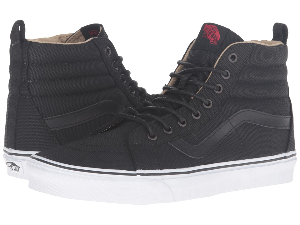 Vans - SK8-Hi Reissue PT ((Military Twill) Black/True White) Skate Shoes