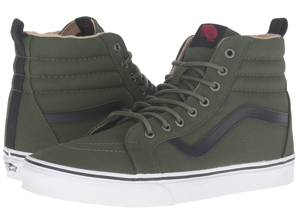 Vans - SK8-Hi Reissue PT ((Military Twill) Rifle Green/True White) Skate Shoes