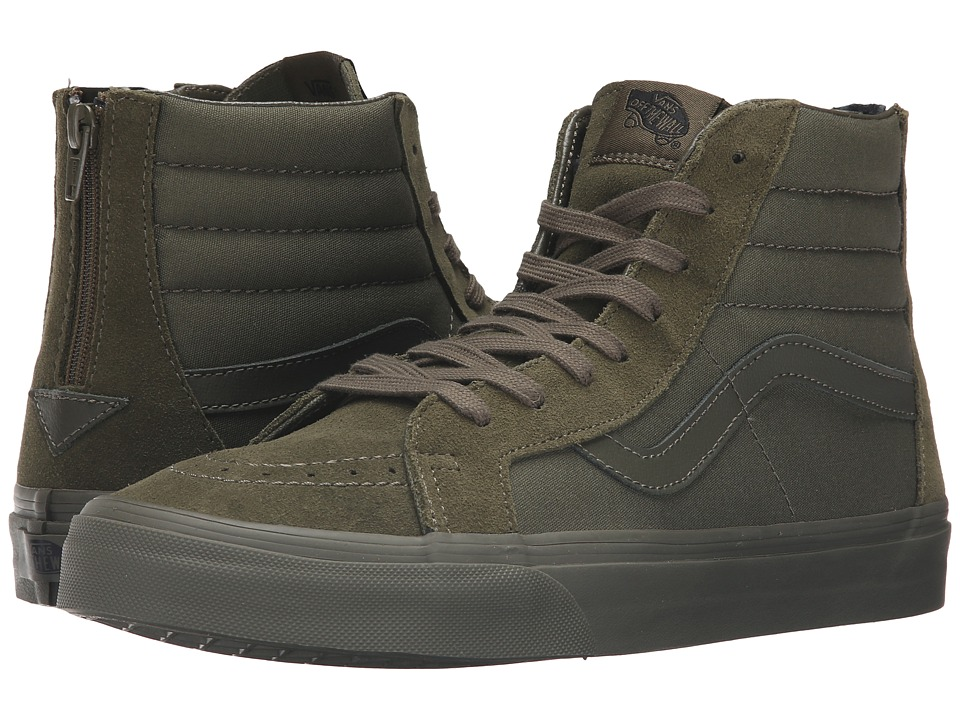 Vans - SK8-Hi Reissue Zip ((Mono) Ivy Green) Lace up casual Shoes