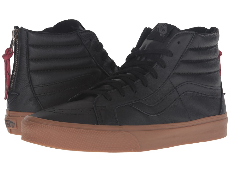 Vans - SK8-Hi Reissue Zip ((Hiking) Black/Gum) Lace up casual Shoes