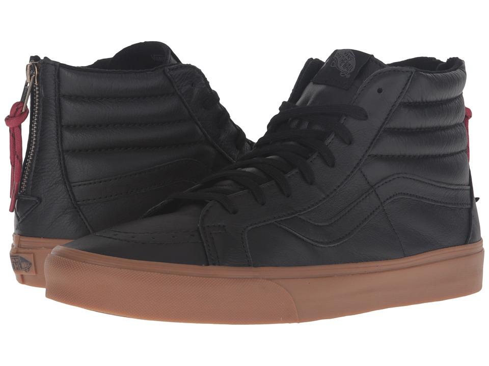 Vans - SK8-Hi Reissue Zip ((Hiking) Black/Gum) Lace up casual Shoes