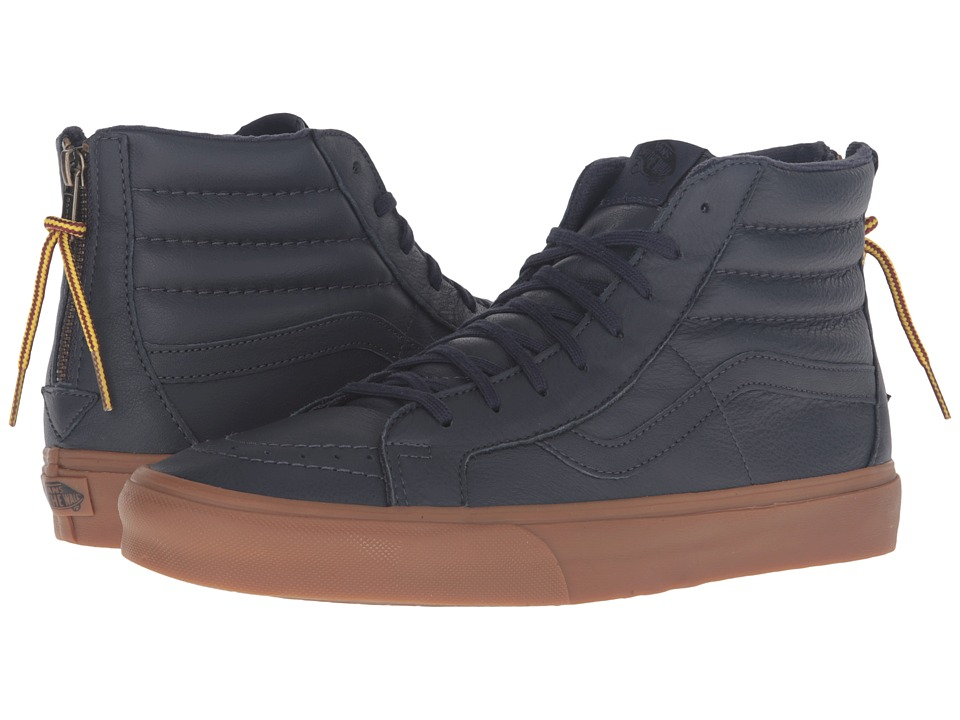 Vans - SK8-Hi Reissue Zip ((Hiking) Navy/Gum) Lace up casual Shoes