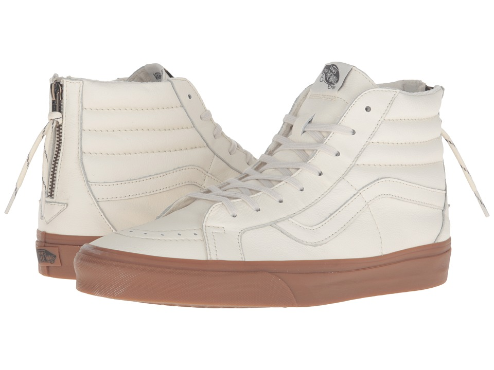 Vans SK8-Hi Reissue Zip ((Hiking) White/Gum) Lace up casual Shoes
