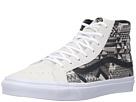 SK8-Hi Slim ((Italian Weave) White/Black) Skate Shoes