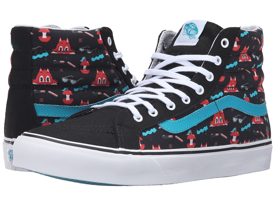 Vans - SK8-Hi Slim ((Dabs Myla) Multi/Black) Skate Shoes