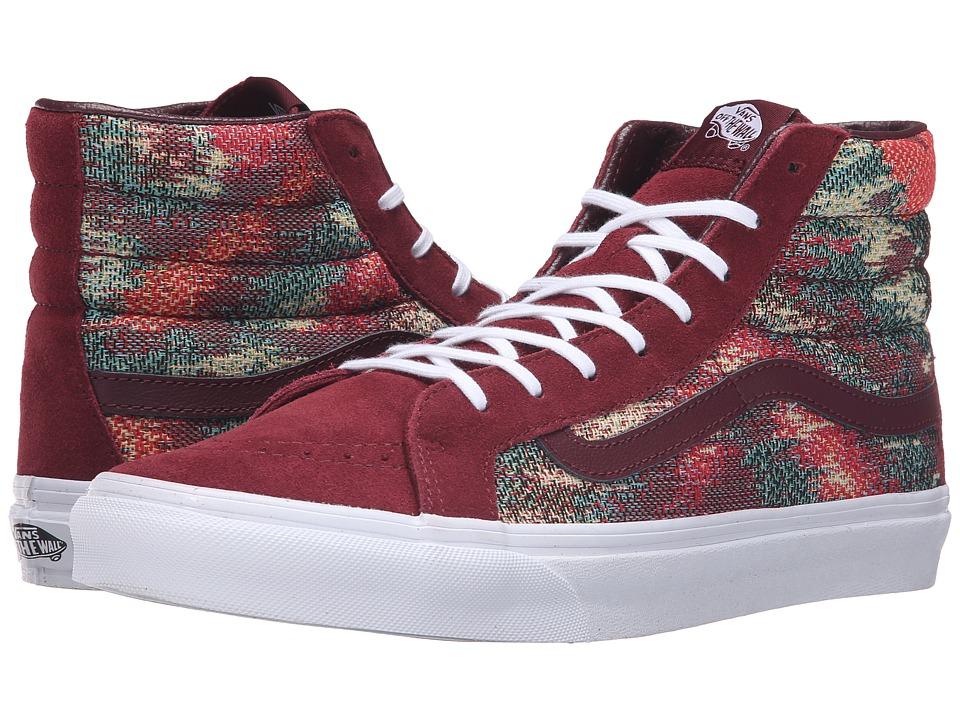 Vans - SK8-Hi Slim ((Italian Weave) Port Royale/Multi) Skate Shoes
