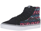 SK8-Hi Slim ((Moroccan Geo) Black/True White) Skate Shoes