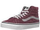 SK8-Hi Slim ((Vintage Suede) Red Mahogany) Skate Shoes