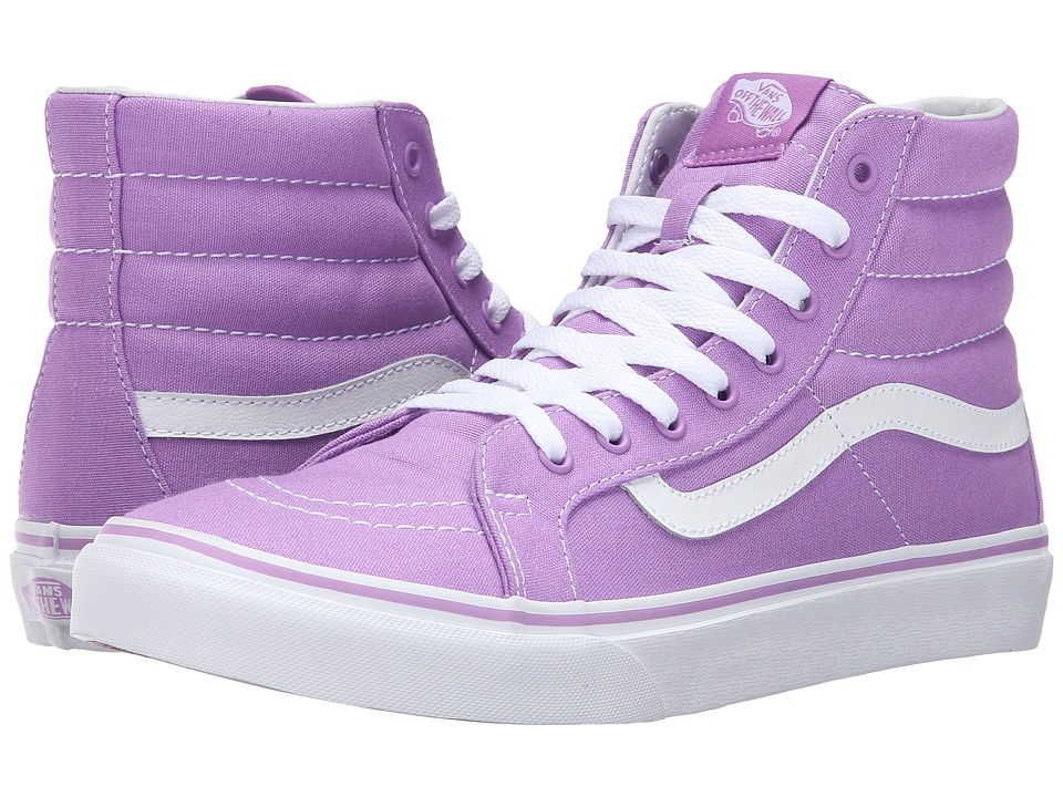 Vans - SK8-Hi Slim (African Violet/True White) Skate Shoes