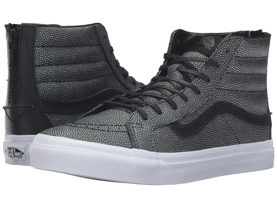 Vans - SK8-Hi Slim Zip ((Embossed Stingray) Black) Skate Shoes