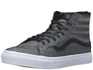 SK8-Hi Slim Zip ((Embossed Stingray) Black) Skate Shoes