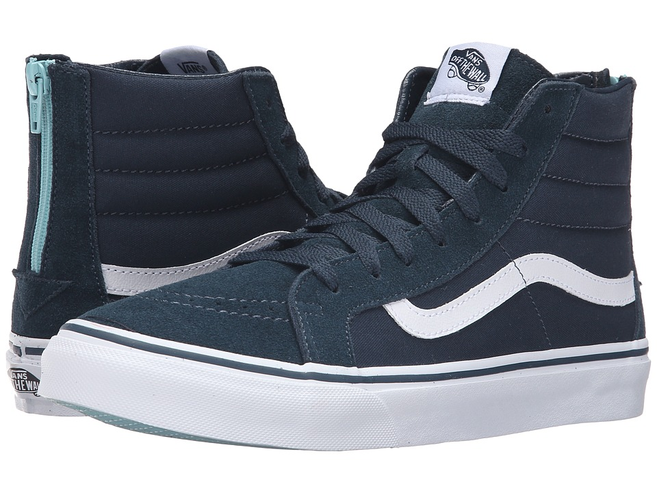 Vans - SK8-Hi Slim Zip ((Pop) Midnight Navy) Skate Shoes