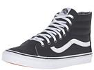 SK8-Hi Slim Zip ((Tweed Dots) Black/True White) Skate Shoes