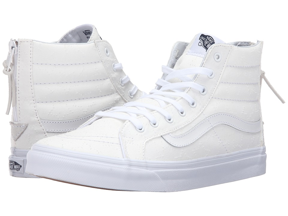Vans - SK8-Hi Slim Zip ((Star Dots) True White/True White) Skate Shoes