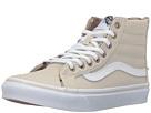 SK8-Hi Slim Zip ((Tweed Dots) Oyster Gray/True White) Skate Shoes