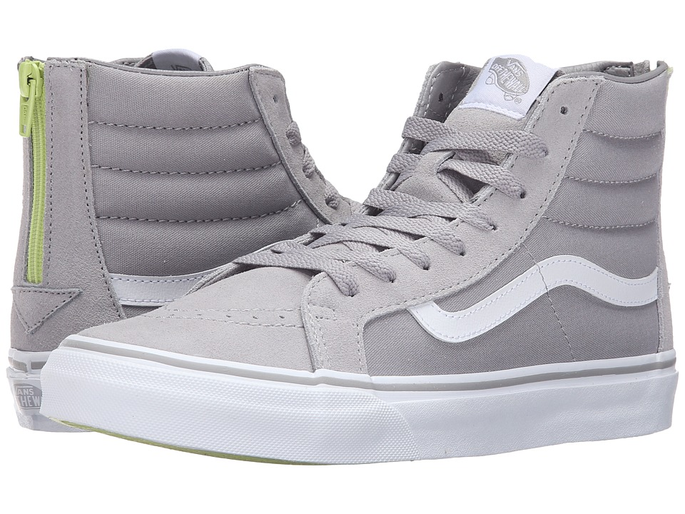Vans - SK8-Hi Slim Zip ((Pop) Silver Sconce) Skate Shoes