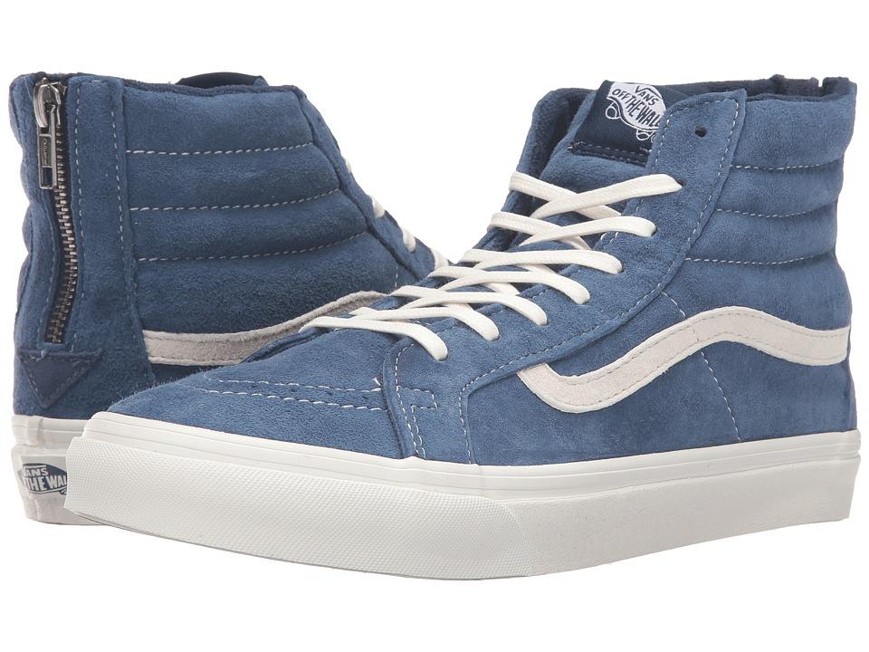 Vans - SK8-Hi Slim Zip ((Scotchgard) Obsidian/Blanc de Blanc) Skate Shoes