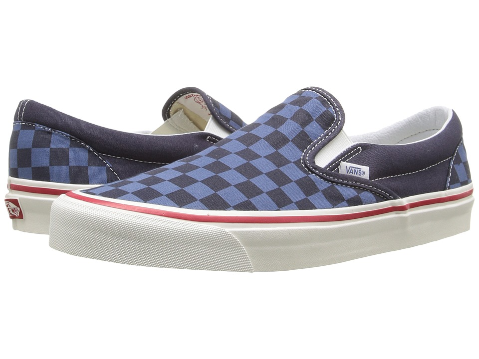 Vans - Slip-On 98 Reissue ((50th) STV/Checkers/Navy/Blue) Skate Shoes