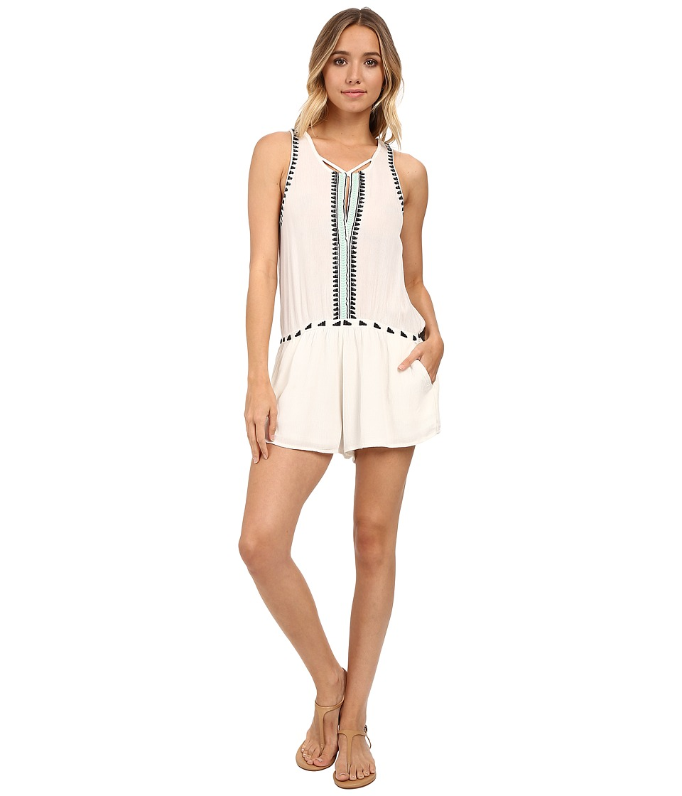 Rip Curl - Electric Beach Romper (Vanilla) Women's Jumpsuit & Rompers One Piece