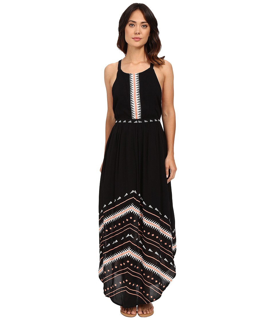 Rip Curl Electric Beach Maxi Dress (Black) Women