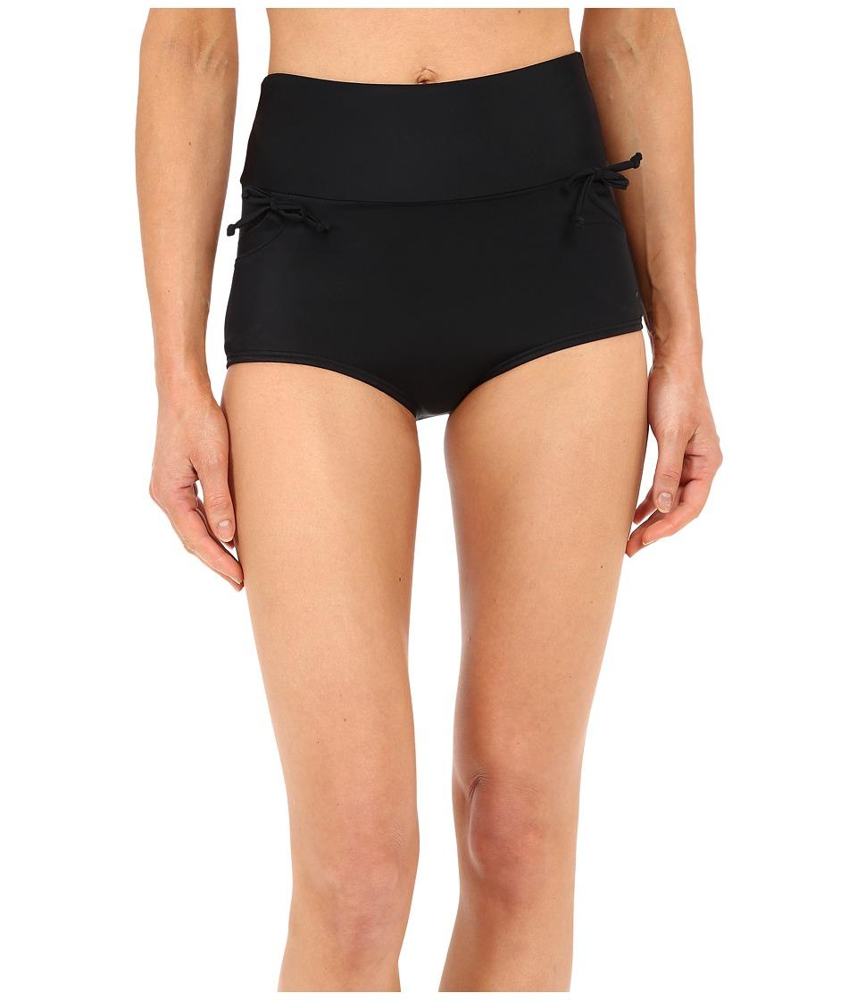 Unique Vintage Gilda High Waisted Bikini Bottom (Black) Women
