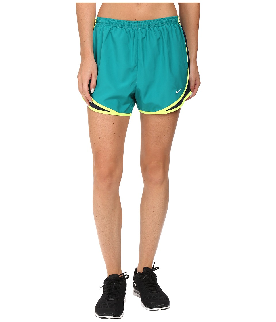Nike - Tempo Short (Rio Teal/Obsidian/Volt/Wolf Grey) Women's Workout