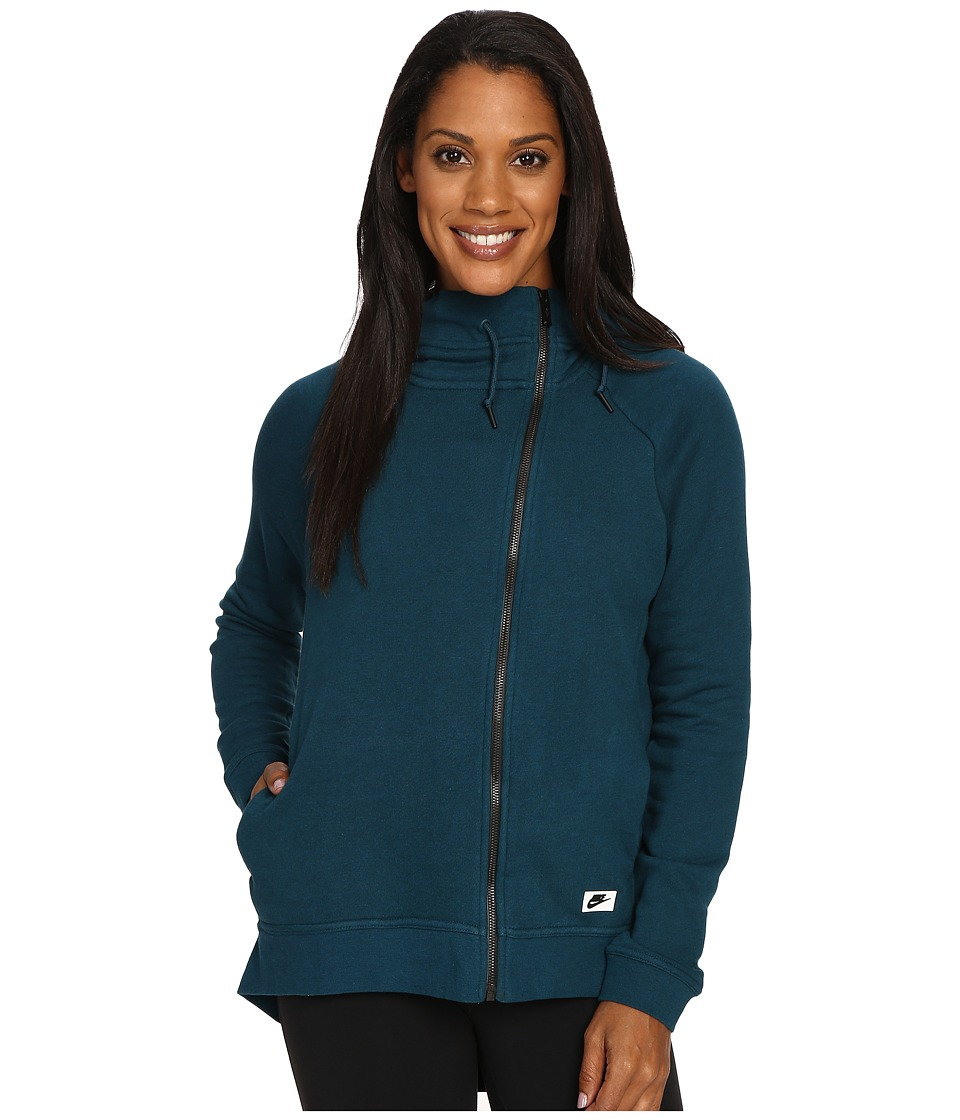 Nike - Sportswear Modern Cape (Midnight Turquoise/Midnight Turquoise) Women's Clothing
