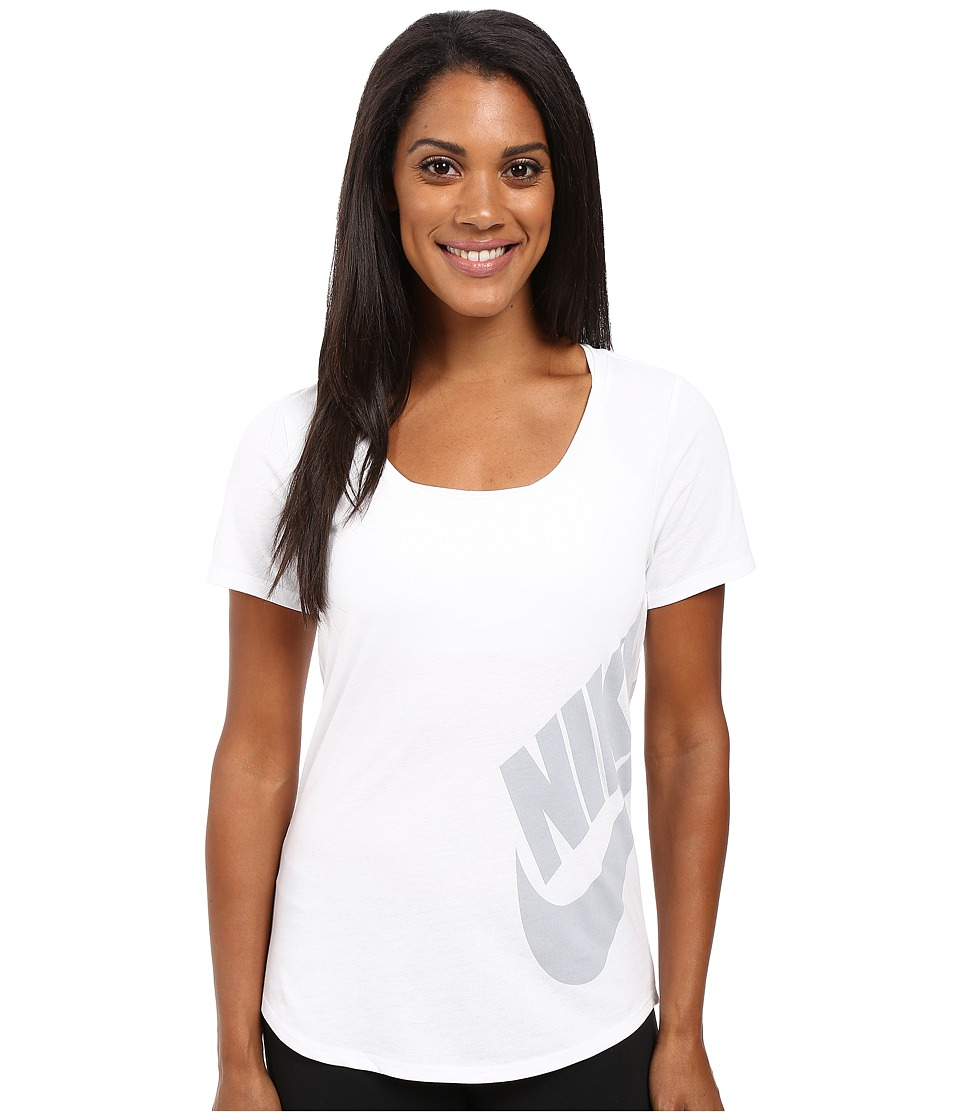 Nike - Futura Scoop (White/White/Wolf Grey) Women's T Shirt