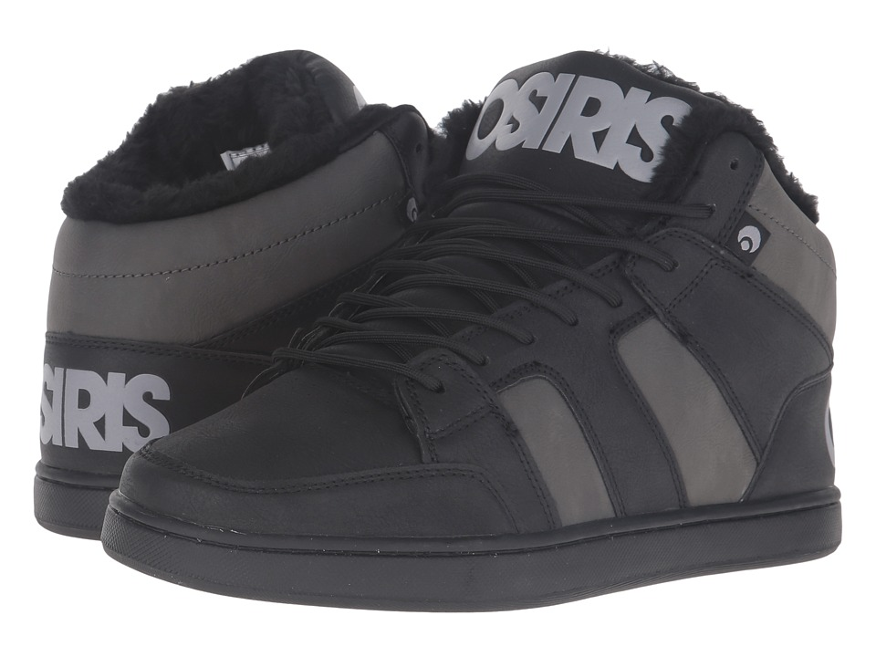 Osiris - Convoy Mid SHR (Black/Charcoal/Grey) Men's Skate Shoes