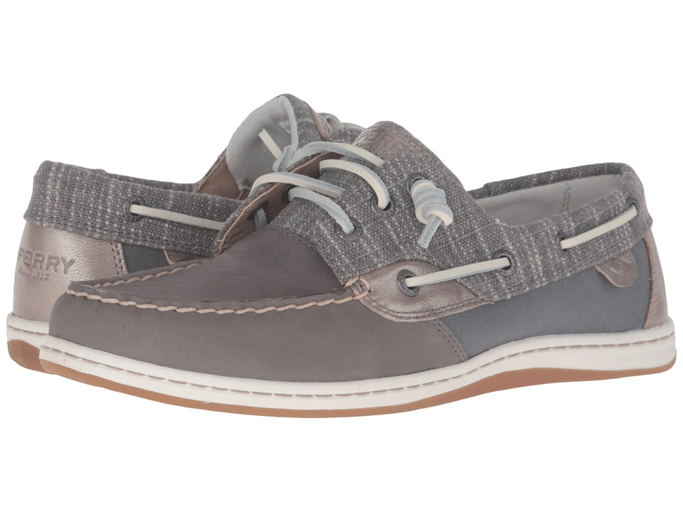 Sperry - Songfish Metallic Sparkle (Medium Grey) Women's Lace Up Moc Toe Shoes