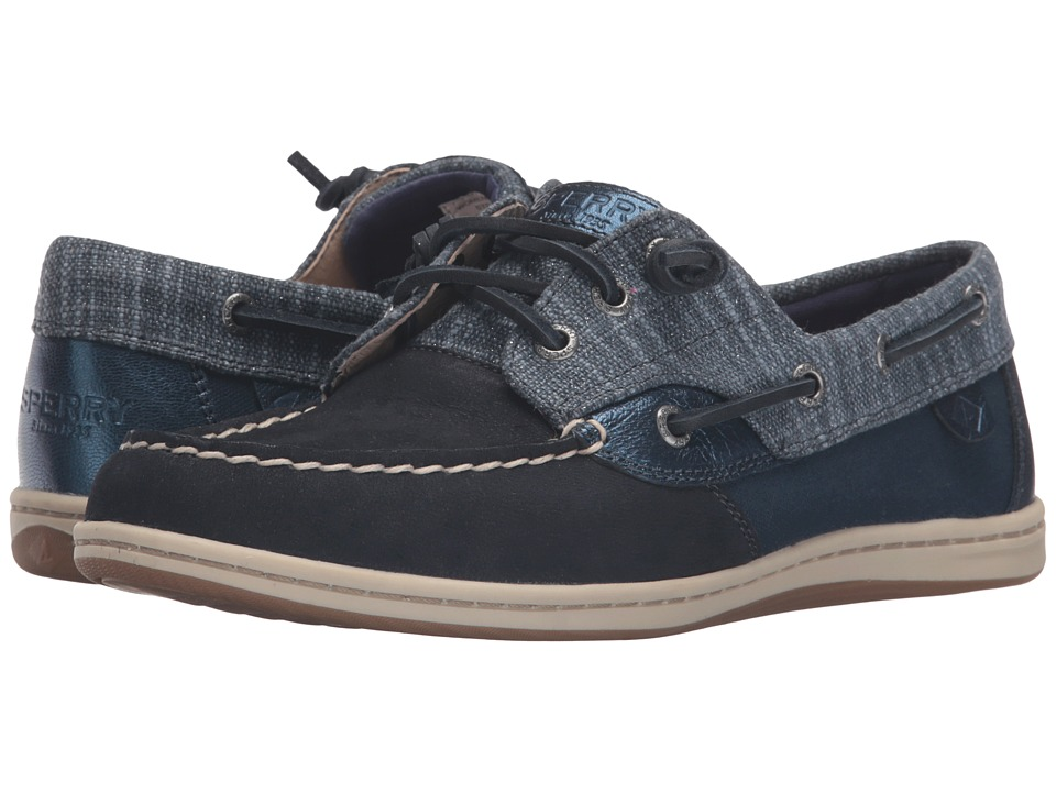 Sperry Top-Sider - Songfish Metallic Sparkle (Navy) Women's Lace Up Moc Toe Shoes