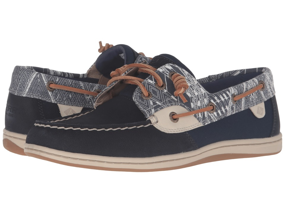 Sperry - Songfish Native (Navy) Women's Lace Up Moc Toe Shoes