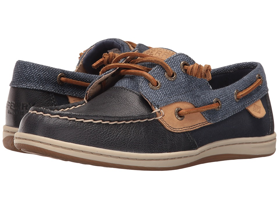 Sperry Top-Sider - Songfish Waxy Canvas (Navy) Women's Lace Up Moc Toe Shoes