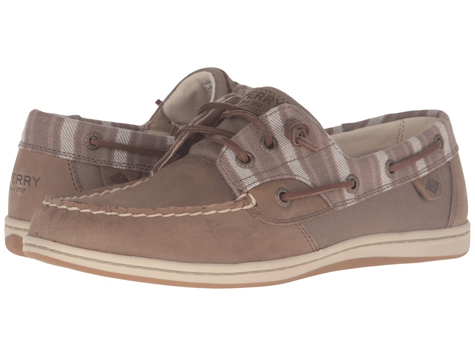 Sperry Top-Sider - Songfish Stripe (Taupe) Women's Lace up casual Shoes