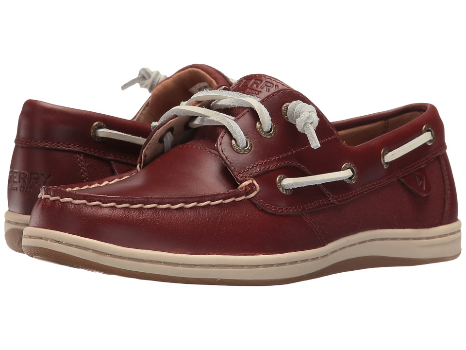 Sperry Top-Sider - Songfish Heavy Leather (Rust) Women's Lace Up Moc Toe Shoes