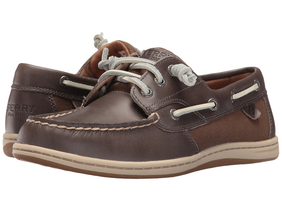 Sperry - Songfish Heavy Leather (Stone) Women's Lace Up Moc Toe Shoes