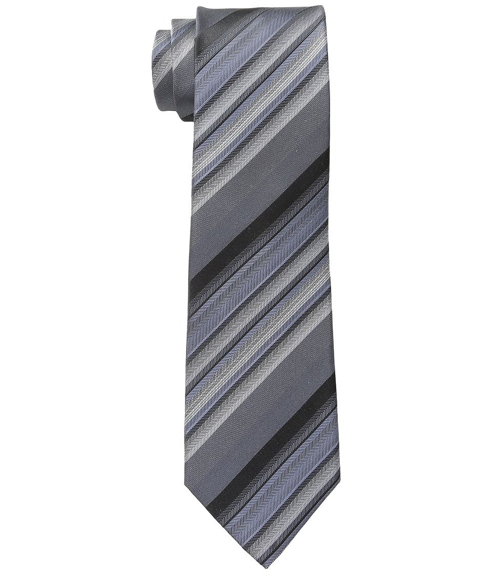 Kenneth Cole Reaction - Herringbone Stripe (Black) Ties