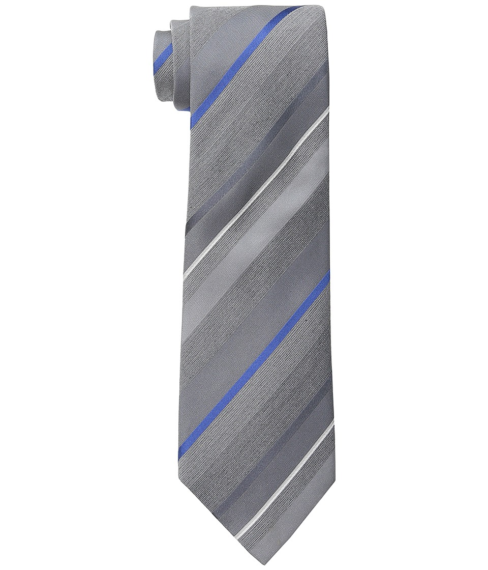 Kenneth Cole Reaction - Fine Color Stripe (Grey) Ties