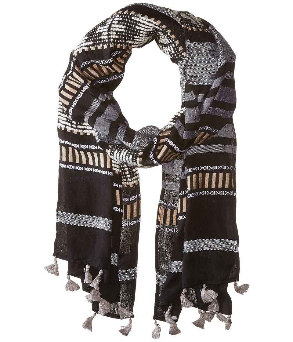 BCBGMAXAZRIA - Aztec Space Dye Scarf (Black) Scarves