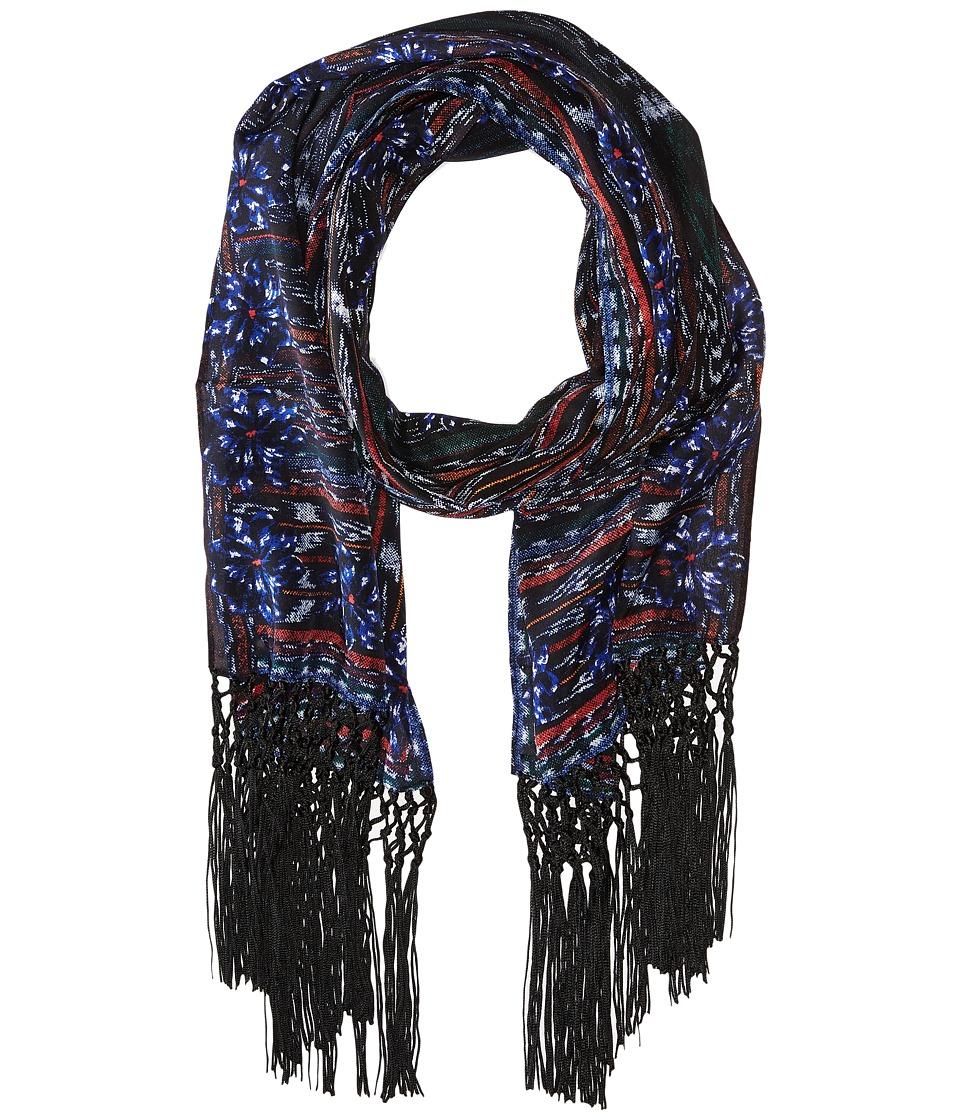 BCBGMAXAZRIA - Aztec Weave Oblong (Black) Scarves