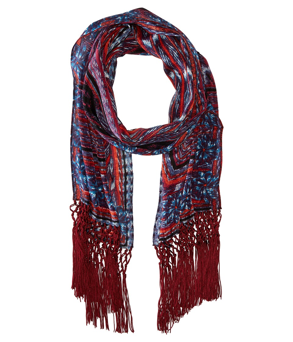 BCBGMAXAZRIA - Aztec Weave Oblong (Cranberry) Scarves