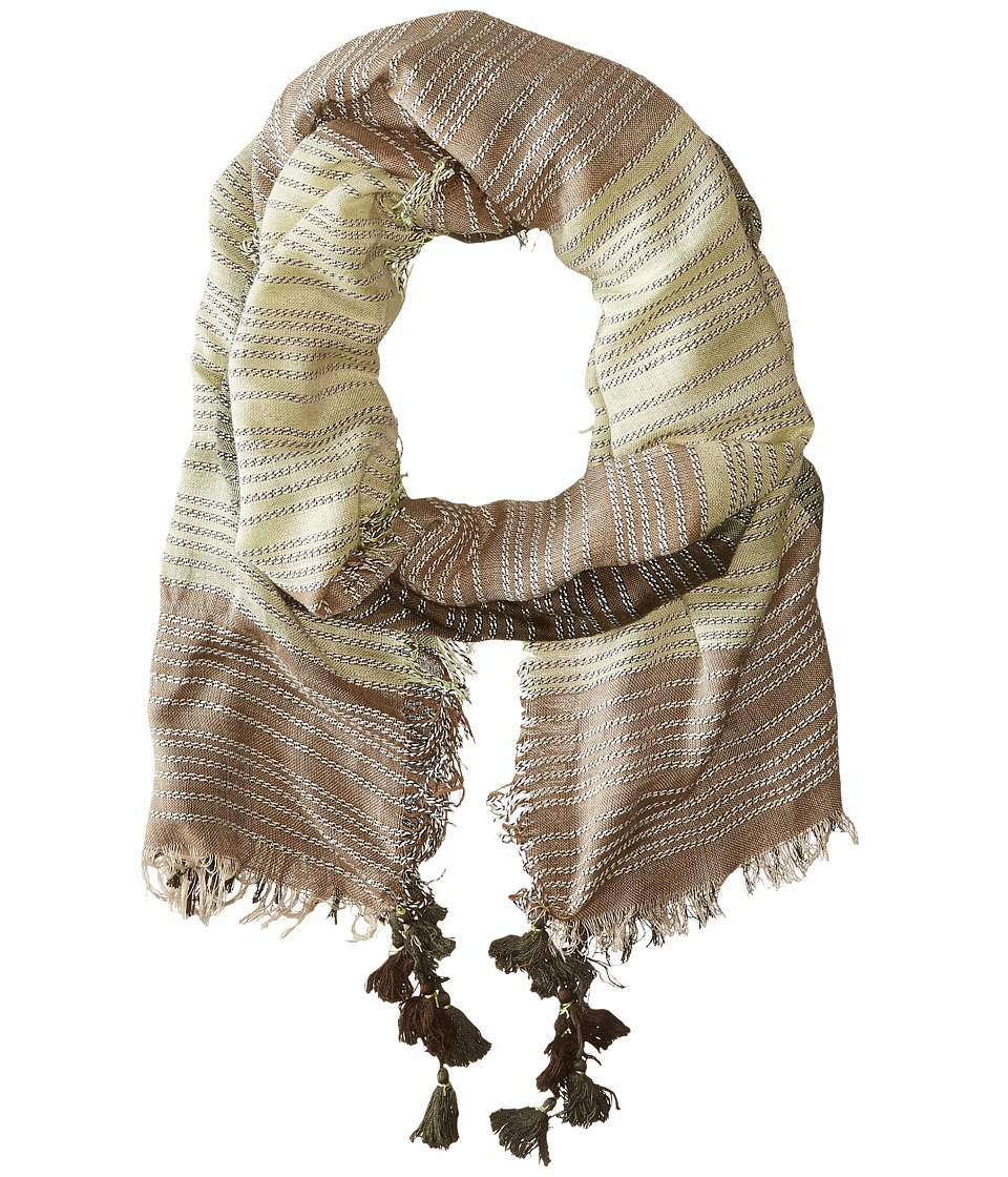 BCBGMAXAZRIA - Color Block Scarf (Spanish Moss) Scarves