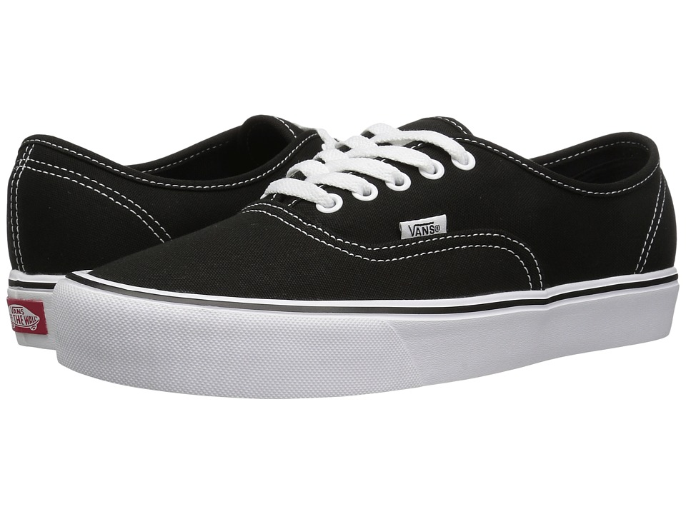 Vans - Authentic Lite ((Canvas) Black/White) Skate Shoes