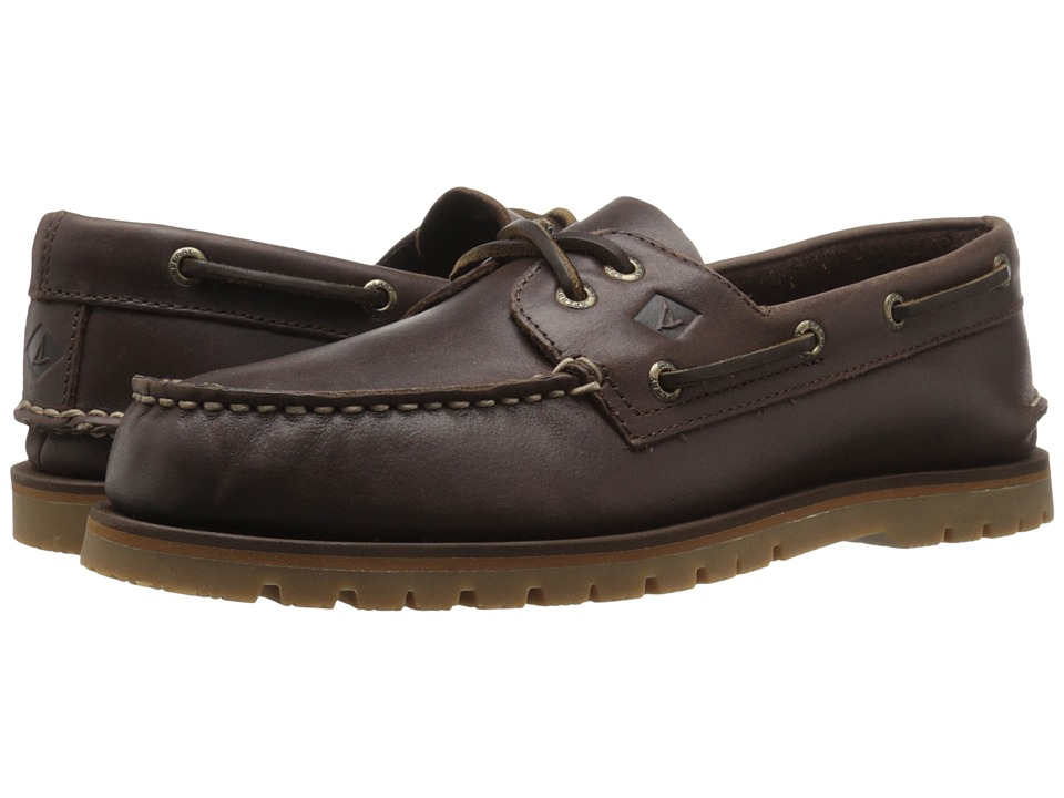 Sperry - A/O Mini Lug (Brown) Men's Lace up casual Shoes