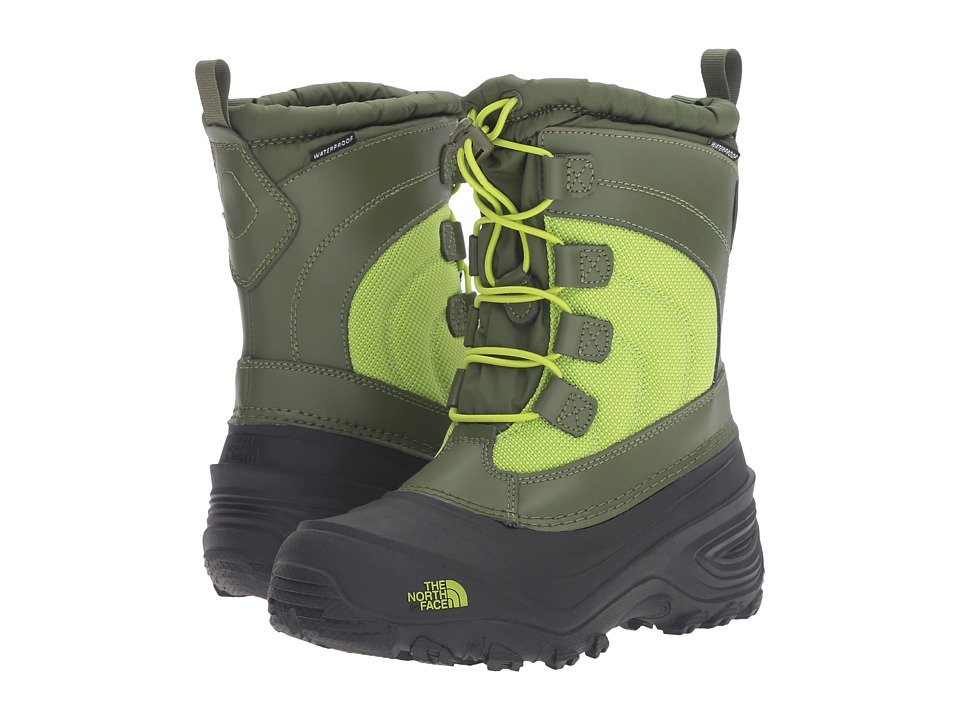 The North Face Kids - Alpenglow IV (Toddler/Little Kid/Big Kid) (Terrarium Green/Lime Green) Kids Shoes