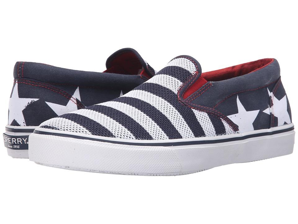 Sperry - Striper Slip-On Stars Stripes (Red/White/Blue) Men's Slip on Shoes