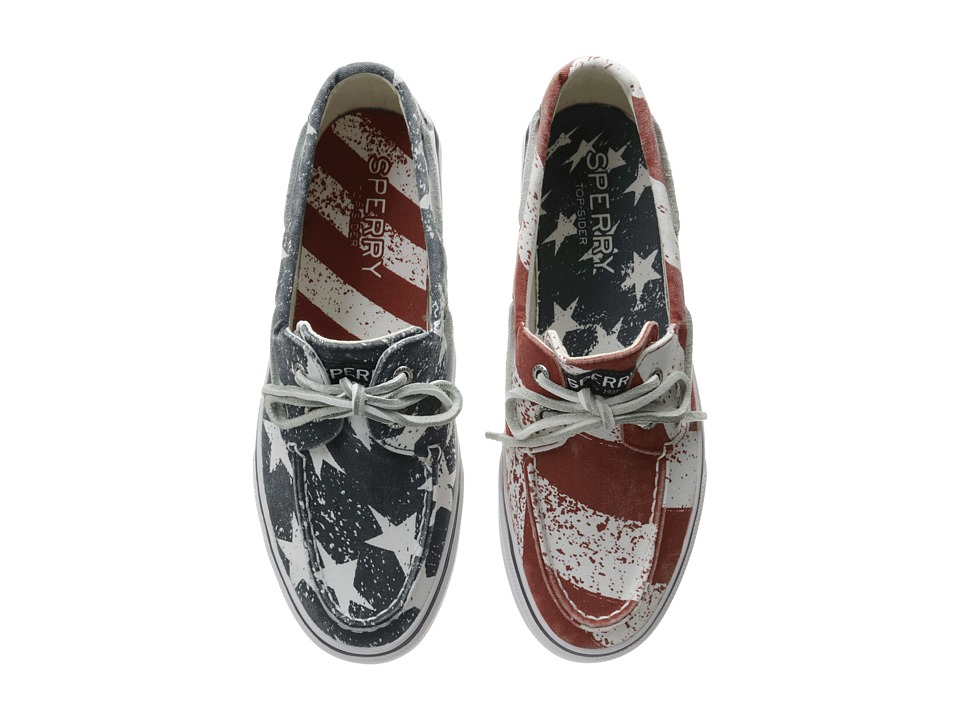 Sperry - Bahama Stars Stripes (Red/White/Blue) Men's Lace up casual Shoes